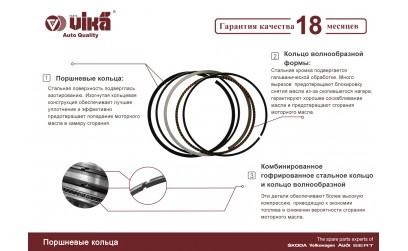 Кольца поршневые VIKA - piston rings