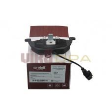 колодки тормозные передние с датчиком (на диск 256